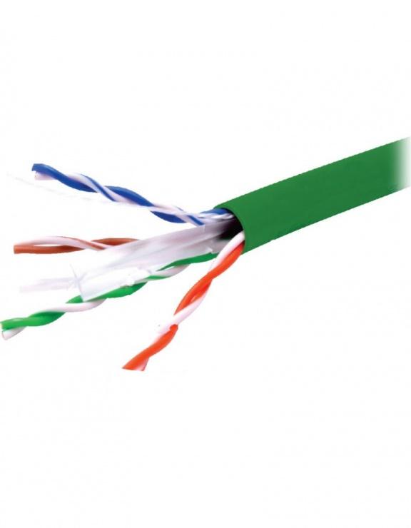 Imagine Rola cablu de retea RJ45 305m UTP cat.6 CU Verde, A0057585