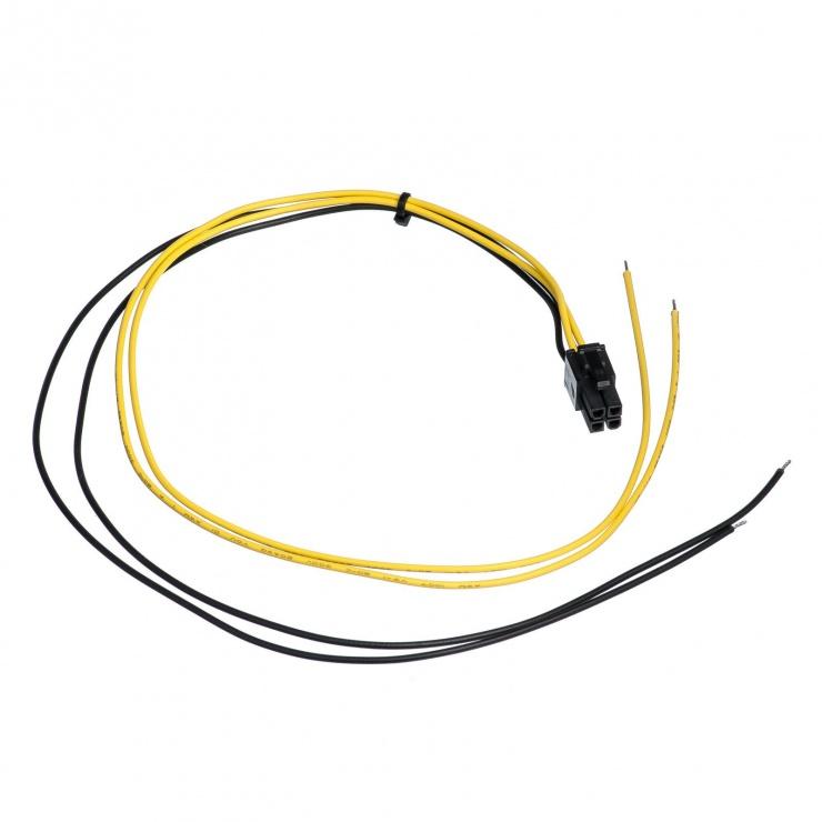 Imagine Cablu de alimentare PSU P4 la fire deschise 45cm, AK-SC-21