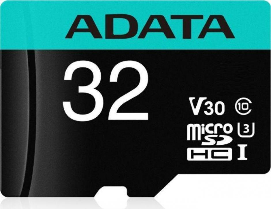 Imagine Card de memorie micro SDHC Premier Pro 32Gb clasa 10 UHS-I U3, ADATA AUSDH32GUI3V30SA2