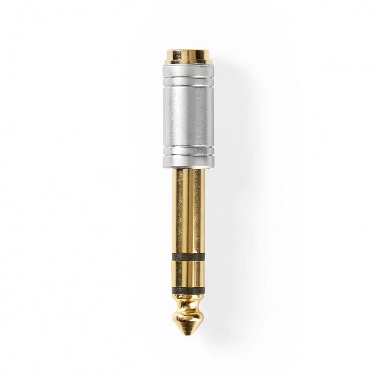 Imagine Adaptor audio jack stereo 6.35 mm la 3.5mm T-M, Nedis CAGC23930ME