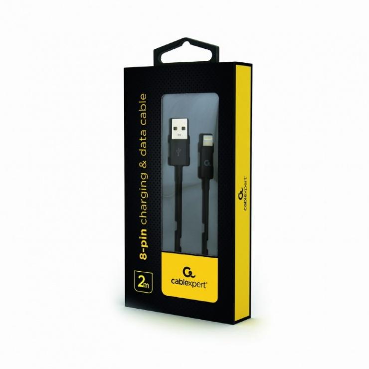 Imagine Cablu USB la iPhone Lightning 2m Begru, Gembird CC-USB2P-AMLM-2M