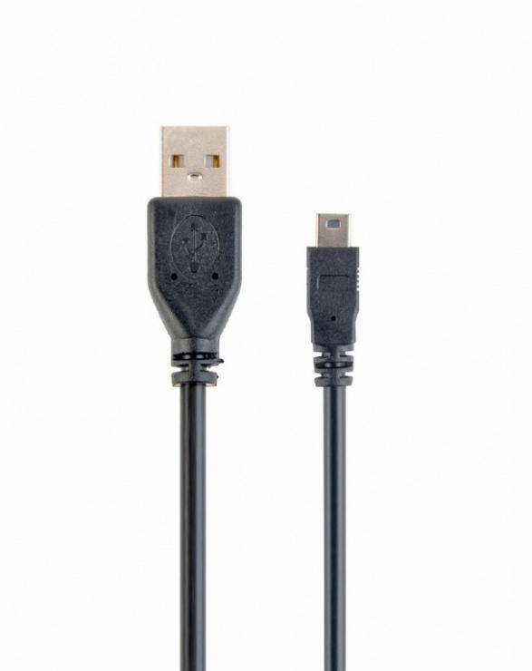 Imagine Cablu USB 2.0 la mini USB-B T-T 0.3m, Gembird CCP-USB2-AM5P-1
