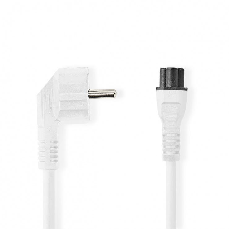 Imagine Cablu de alimentare Schuko la C5 Mickey Mouse 2m Alb, Nedis CEGP10100WT20