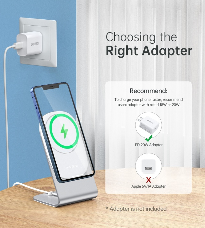 Imagine Stand si incarcator wireless magnetic Magasafe IPhone 12, Choetech