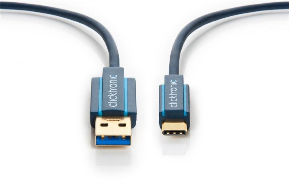 Imagine Cablu USB 3.1-C la USB-A T-T 3m, Clicktronic CLICK45126