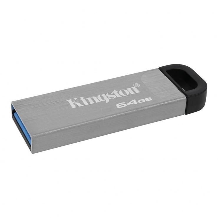 Imagine Stick USB 3.2 DataTraveler Kyson 64GB Metalic, Kingston DTKN/64GB