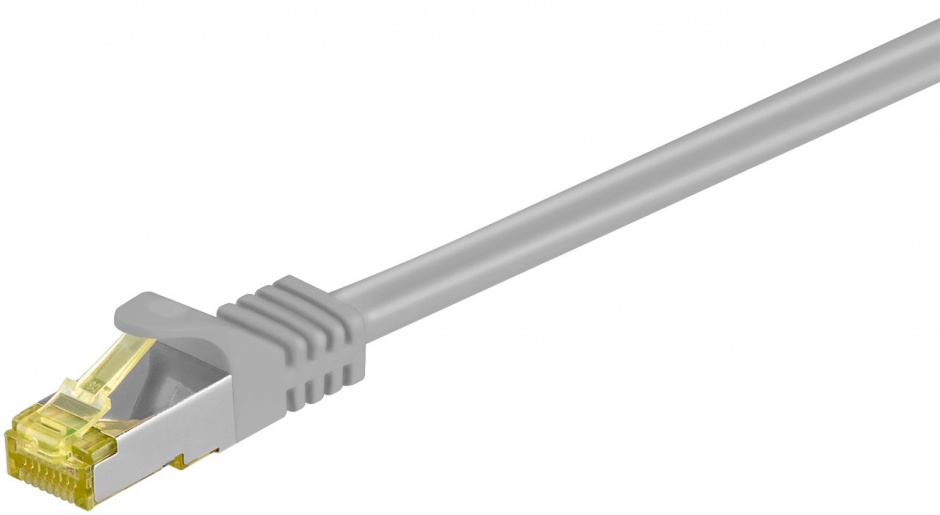 Imagine Cablu de retea RJ45 CAT 6A S/FTP (PiMF) cu cablu CAT 7 Gri 30m, Goobay 91675