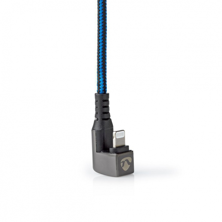 Imagine Cablu de date si incarcare USB-C la Apple Lightning MFI unghi 180 grade 2m, Nedis GCTB39650AL20