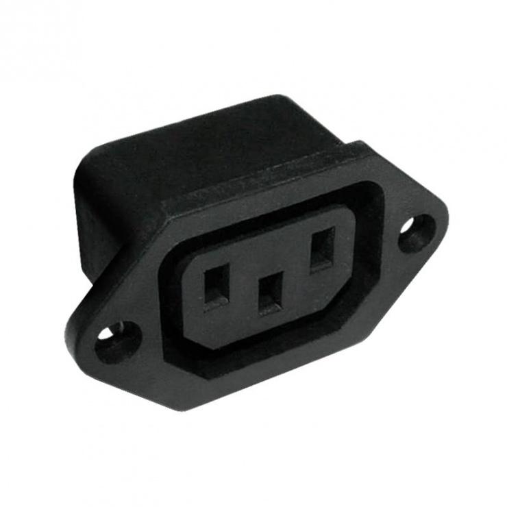 Imagine Conector de alimentare pentru lipit IEC C13 panou, GNI0123.1