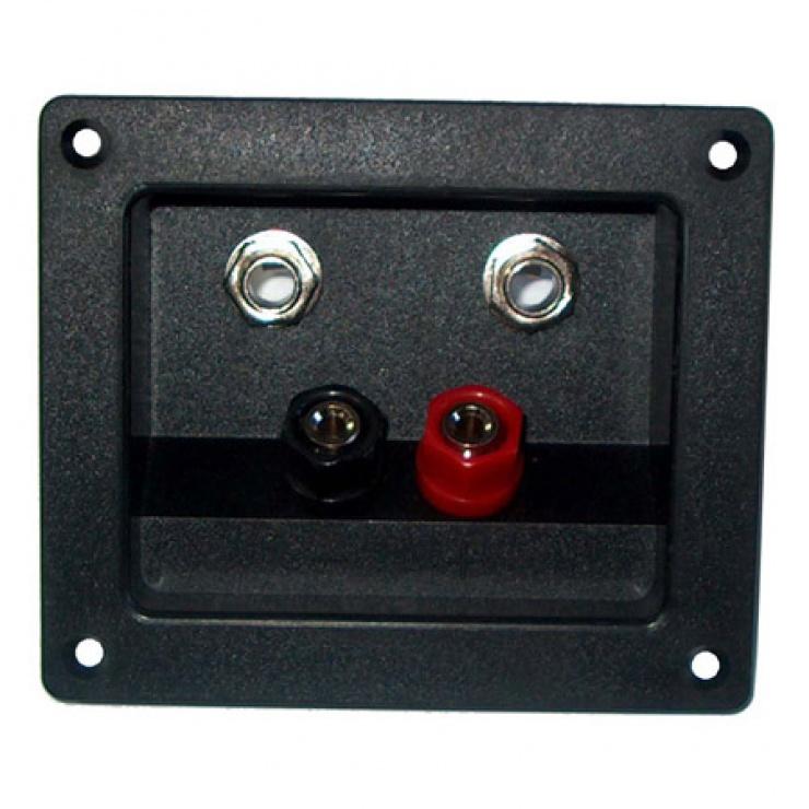 Imagine Conector pentru difuzor 2 x banana + 2 x jack 6.3mm cu montare panou, GNI0243
