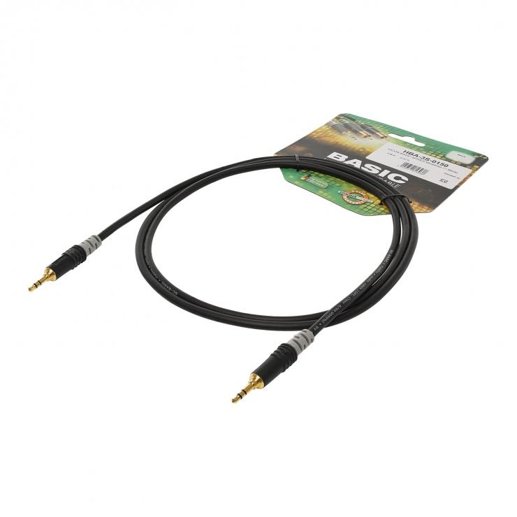 Imagine Cablu audio jack stereo 3 pini T-T 3m, HICON HBA-3S-0300