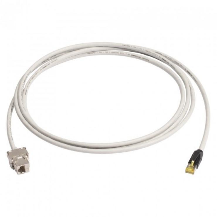 Imagine Cablu prelungitor Cat.6A SFTP cu cablu Cat.7 5m T-M Gri, K7F1-0500-GR