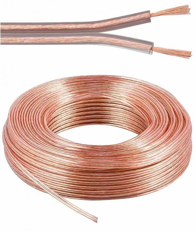 Imagine Cablu pentru boxe transparent 2.5mm2 25m, kjpr-02-25
