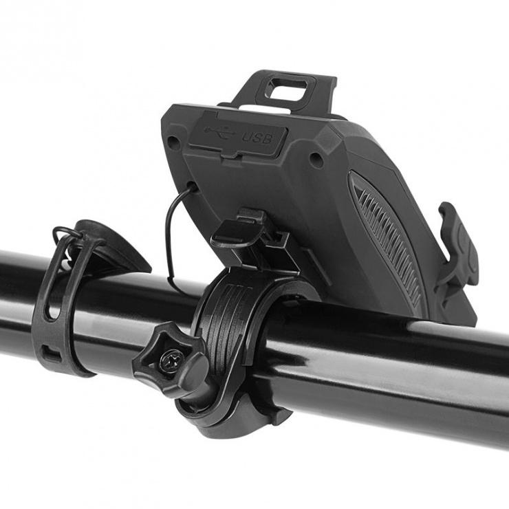 Imagine Suport smartphone 3 in 1 + baterie externa + lanterna pentru bicicleta, KM0125