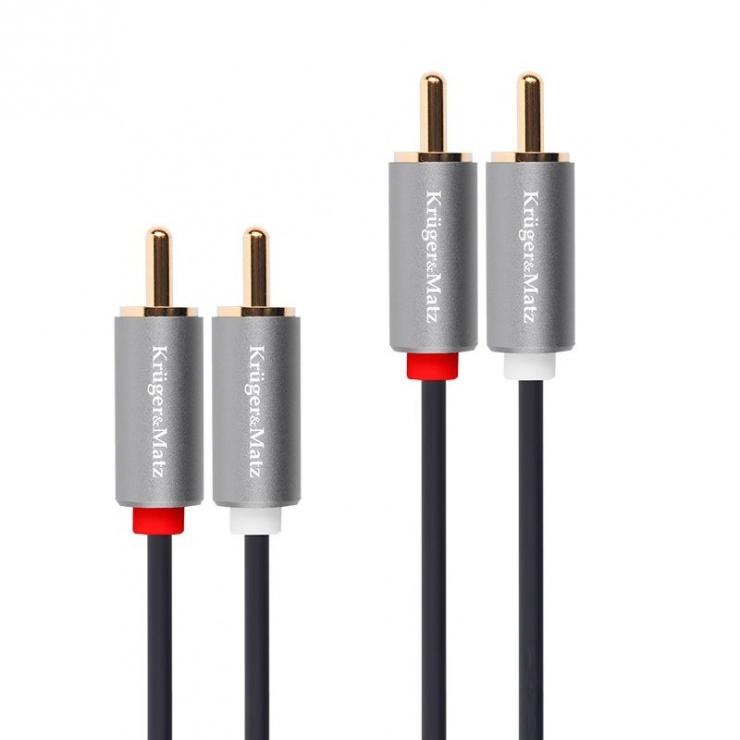 Imagine Cablu audio 2 x RCA la 2 x RCA T-T 1.8m, KM1209