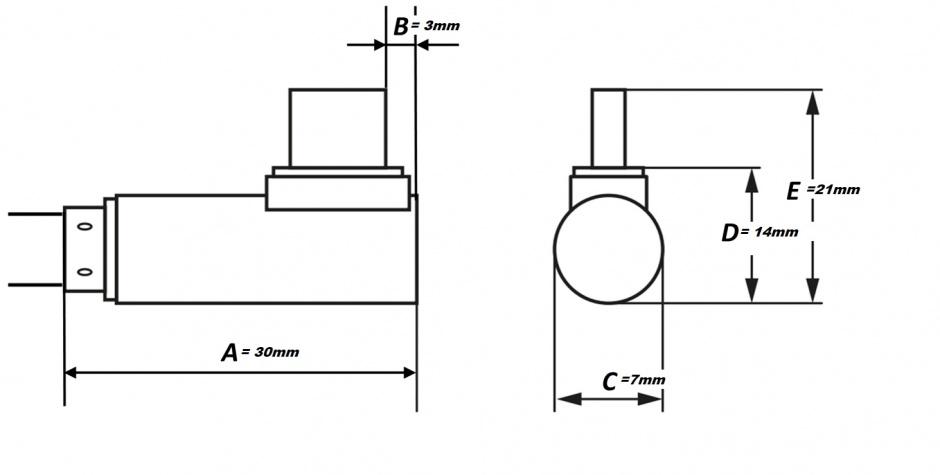 Imagine Cablu USB 3.0-C unghi 90 grade la USB-A 2m T-T Negru, KU31CZ2BK
