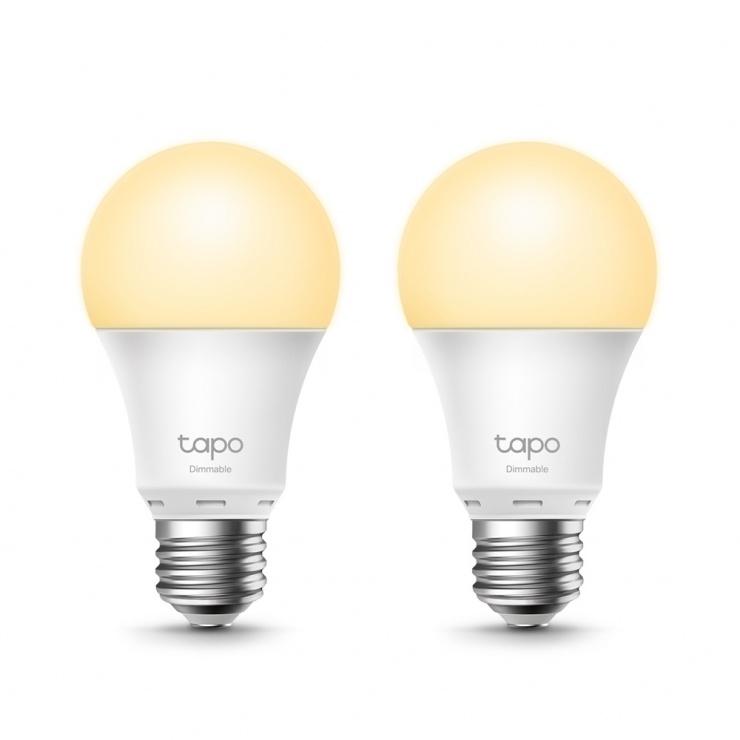 Imagine Set 2 buc bec Wi-Fi inteligent cu reglarea intensitatii luminii E27 8.7W, TP-LINK Tapo L510E(2-pack)