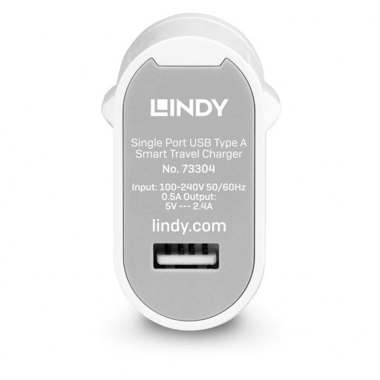 Imagine Incarcator priza 1 x USB-A 2.4A/12W + adaptoare universale, L73304