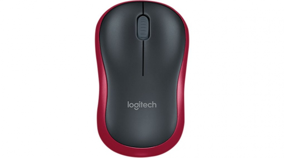 Imagine Mouse Logitech M185 Wireless Mouse, Red