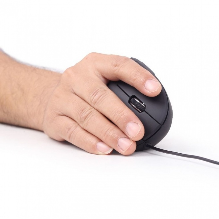 Imagine Mouse ergonomic optic USB Negru, Gembird MUS-ERGO-01