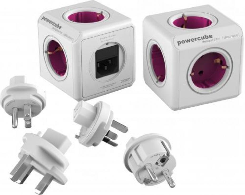 Imagine Prelungitor in forma de cub PowerCube Rewirable + 4 adaptoare, Allocacoc