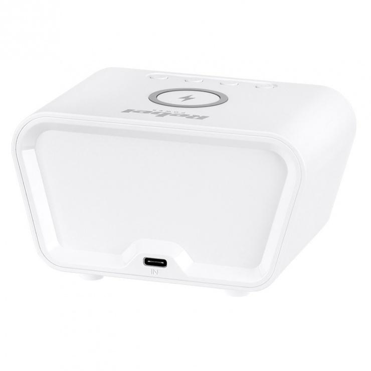 Imagine Ceas cu alarma si incarcare wireless 5W/7.5W/10W Alb, RB-6303-W