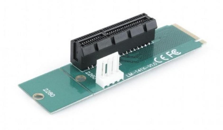 Imagine Adaptor M.2 la PCI Express x4, Gembird RC-M.2-01