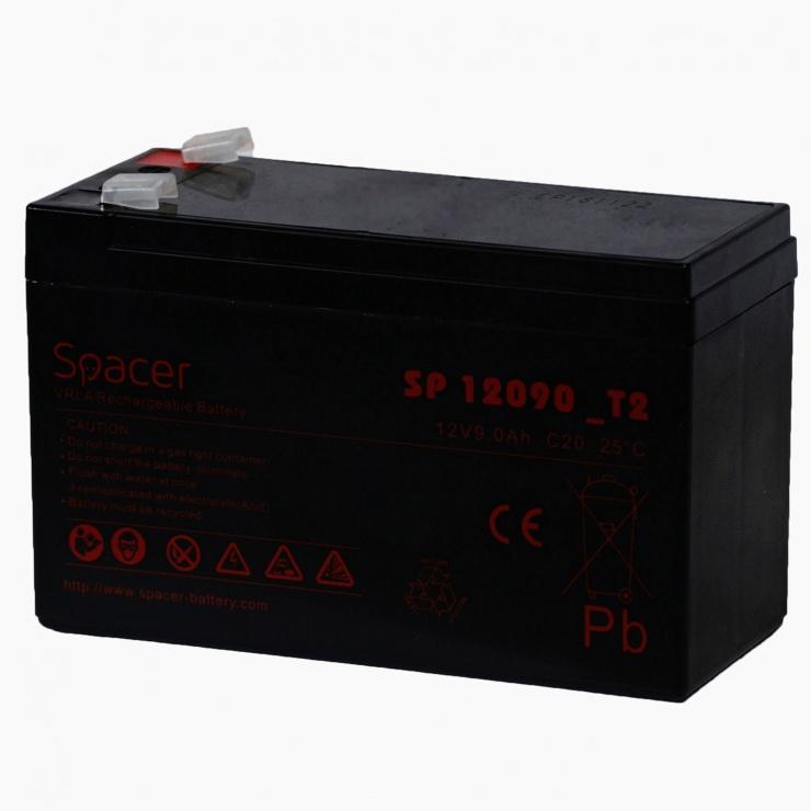 Imagine Baterie pentru UPS 12V / 9Ah, Spacer SP-BAT-12V9AH