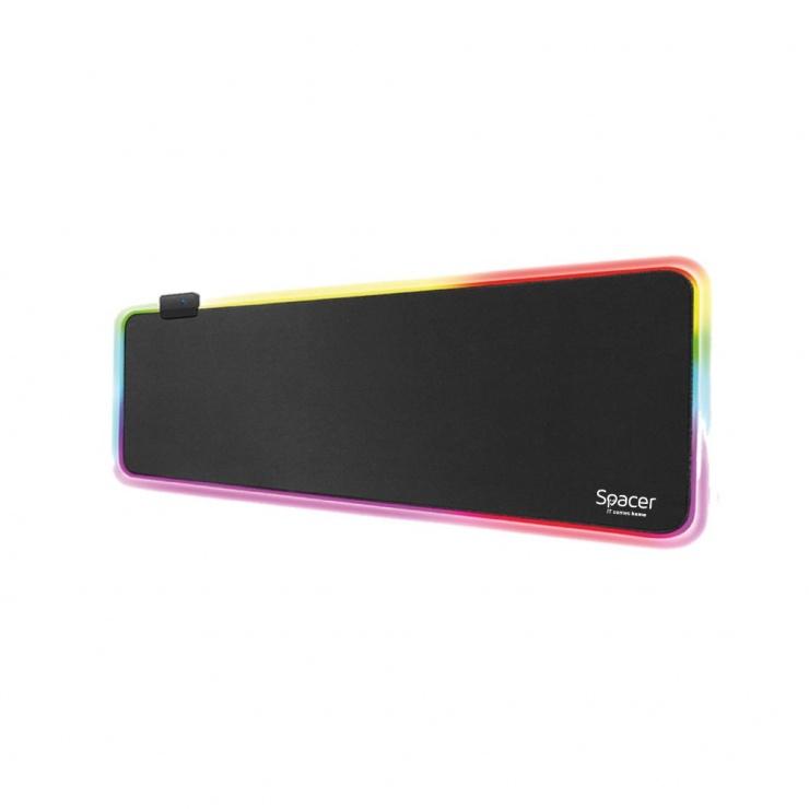 Imagine Mousepad Gaming RGB 900 x 300 x 3 mm, Spacer SP-PAD-GAME-RGB-B