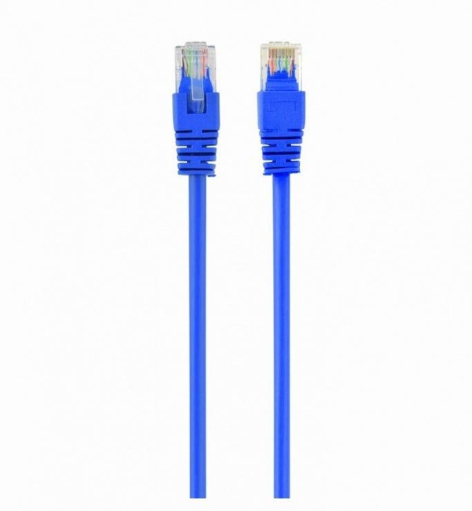 Imagine Cablu de retea RJ45 cat 5e UTP 0.25m Albastru, Spacer SP-PT-CAT5-0.25M-BL