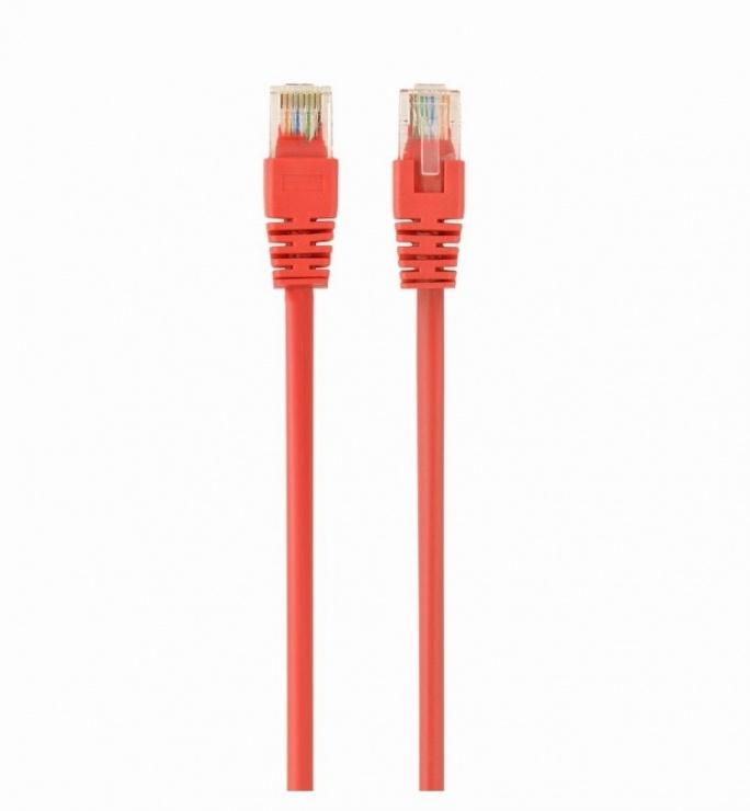 Imagine Cablu de retea RJ45 cat 5e UTP 0.25m Rosu, Spacer SP-PT-CAT5-0.25M-R