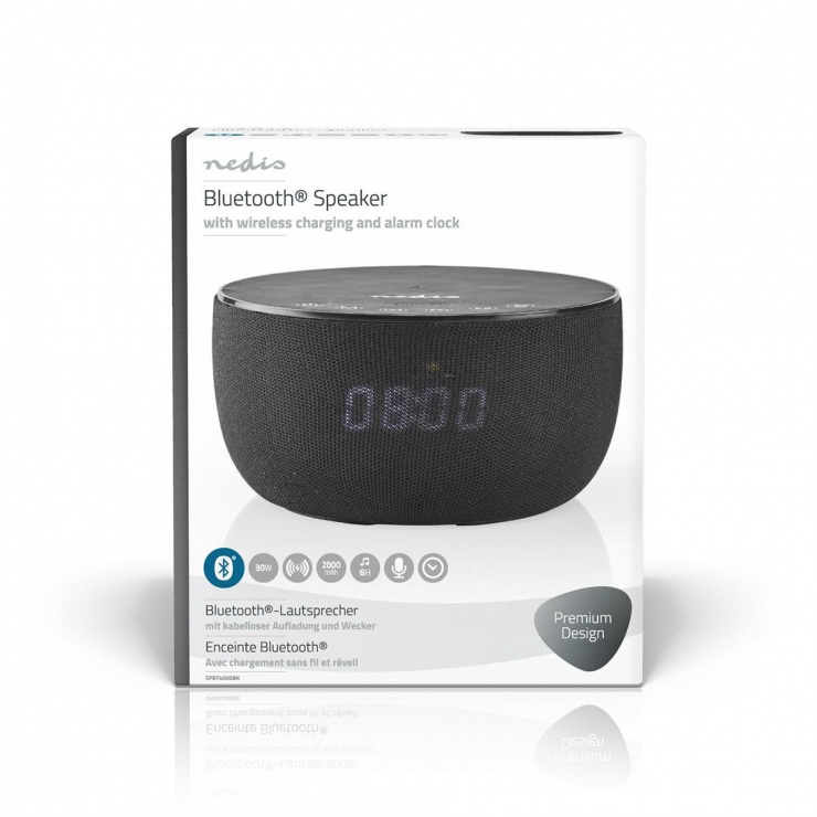 Imagine Boxa bluetooth 30W cu incarcare wireless, Nedis SPBT4000BK