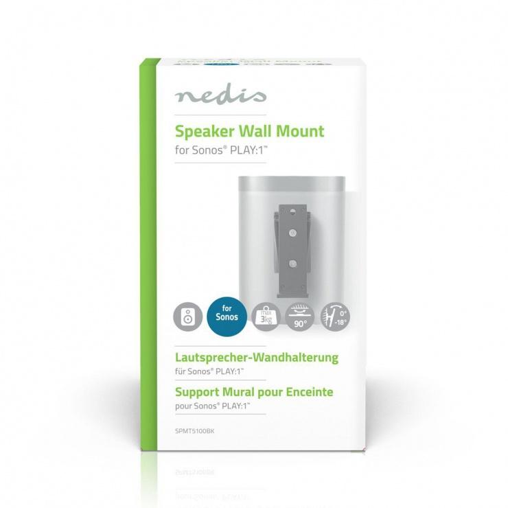 Imagine Suport perete ajustabil Sonos Play:1, Nedis SPMT5100BK