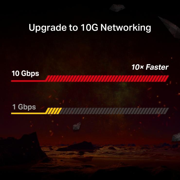 Imagine Placa retea PCI Express la 1 x RJ45 10Gbps, TP-LINK TX401