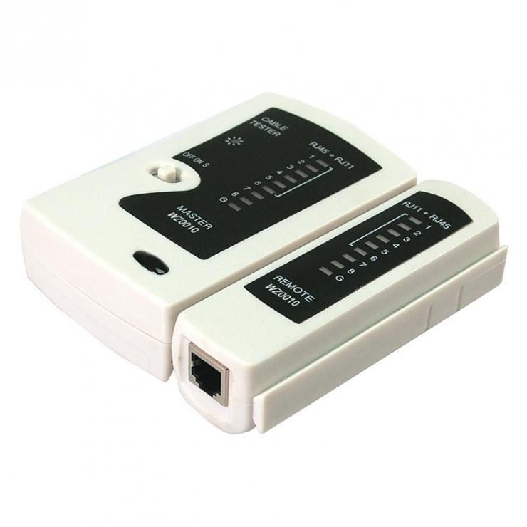 Imagine Tester cablu de retea RJ-11/RJ-45/RJ-12, Logilink WZ0010