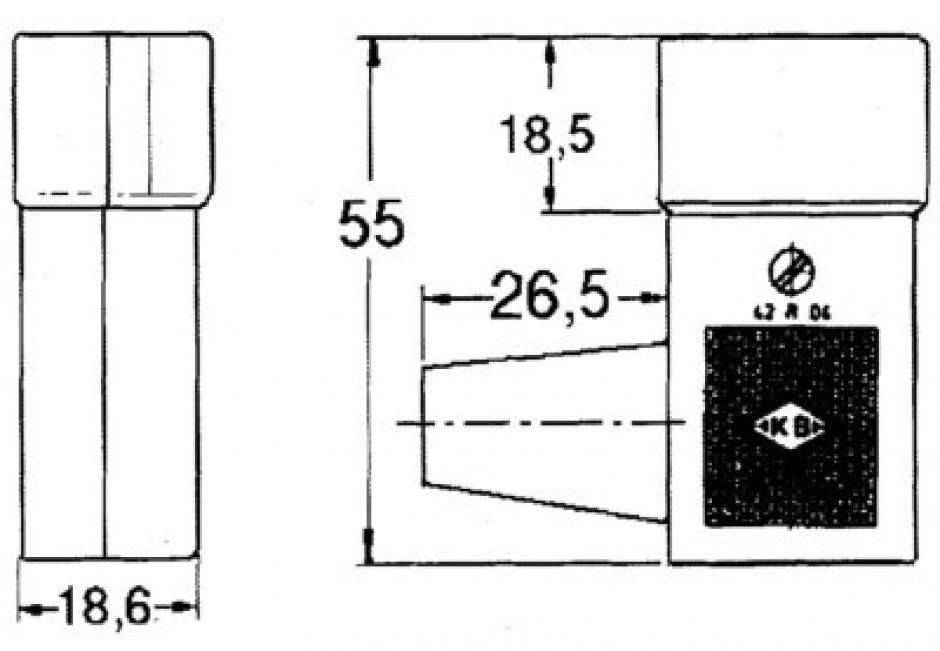 Imagine Conector de alimentare 230V/F IEC C14 unghi tata