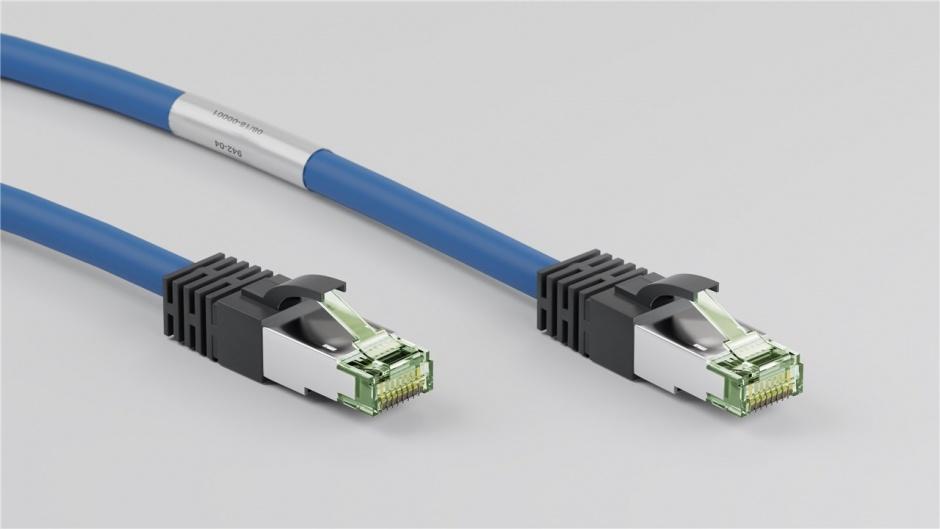 Imagine Cablu de retea CAT 8.1 S/FTP (PiMF) 1m Blue, Goobay G45659