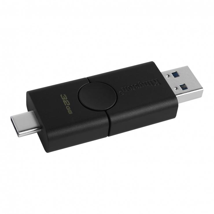 Imagine Stick USB 3.2-A + type C 32GB DataTraveler Duo, Kingston DTDE/32GB