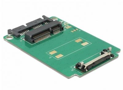 Imagine Adaptor Micro SATA 16pini la mSATA full size, Delock 62520-1
