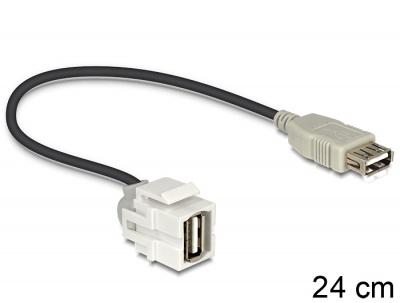 Imagine Modul Keystone USB 2.0-A 250 grade mama, Delock 86329