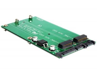 Imagine Convertor Dual MacBook Air SSD la SATA 22 pini, Delock 62494