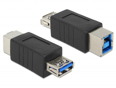 Imagine Adaptor USB 3.0 tip B la tip A M-M, Delock 65181