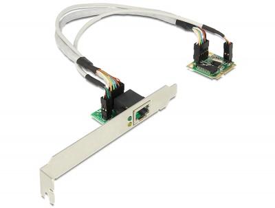 Imagine MiniPCIe I/O PCIe half size la un port Gigabit LAN, Delock 95239