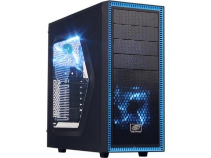 CARCASA DEEPCOOL ATX Mid-Tower, 2* 120mm BLUE LED fan, TESSERACT SW