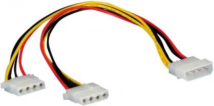 Cablu de alimentare Molex la 2 x Molex 0.3m, Roline 11.03.1005