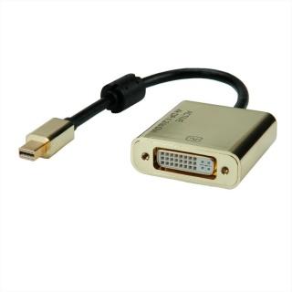 Adaptor Mini DisplayPort la DVI GOLD 4K2K T-M, Roline 12.03.3176