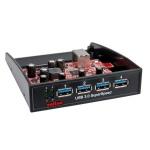"""Front panel pentru bay 3.5"""" cu 4 x USB 3.0, Roline 14.02.5009"""