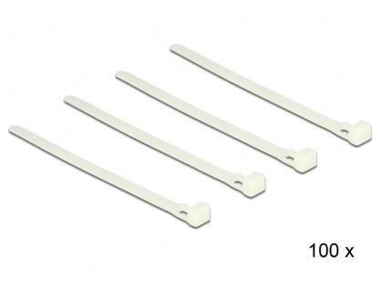 Set 100 bride reutilizabile albe 150mm x 7.2mm, Delock 18638