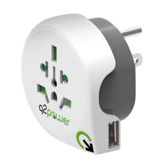 Adaptor World (EU, USA, UK) la USA + 1 x USB 2.1A, Q2POWER 19.07.1578