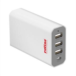 Incarcator priza PowerIQ cu 3 x USB-A + 1 x USB-C 40W, Roline 19.11.1027